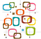 colorful retro squares vector απεικόνιση αποθεμάτων