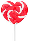 Colorful retro style heart shape lollipop isolated stock photography