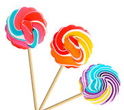Colorful retro style lollipop isolated Stock Photography