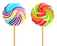 Colorful retro style lollipop isolated Royalty Free Stock Photo