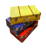 Retro suitcases Stock Photo