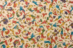 Colorful Retro Tapestry Textile Pattern Royalty Free Stock Images