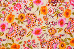 Colorful Retro Tapestry Textile Pattern Royalty Free Stock Photography