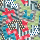 Colorful retro textile seamless pattern Royalty Free Stock Photo