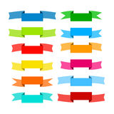 Colorful Retro Vector Ribbons, Labels Collection Stock Image