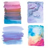 Colorful retro vintage abstract watercolour / aquarelle art hand paint on white background Stock Photos