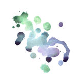 Colorful retro vintage abstract watercolour aquarelle art hand paint on white background.  Stock Photography