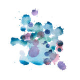 Colorful retro vintage abstract watercolour aquarelle art hand paint on white background.  stock photo