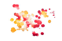 Colorful retro vintage abstract watercolour aquarelle art hand paint on white background.  royalty free stock photo
