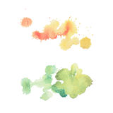 Colorful retro vintage abstract watercolour aquarelle art hand paint on white background.  stock photos