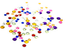 Colorful rhinestones Stock Images