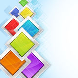 Colorful rhombus in metallic frames Royalty Free Stock Photos