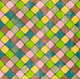 Colorful Rhombus. Seamless pattern Royalty Free Stock Images