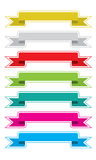 Colorful ribbon Stock Images