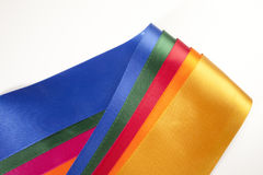 Colorful ribbon assortment Royalty Free Stock Photos