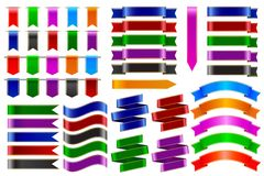 Colorful Ribbon Banner Royalty Free Stock Images
