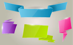 Colorful ribbon banner set Royalty Free Stock Images