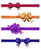Colorful Ribbon with Bow Set Stock Images