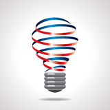 Colorful ribbon bulb idea concept Stock Image