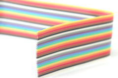Colorful Ribbon Cable Strip Macro Royalty Free Stock Photography