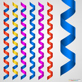 Colorful ribbon collection isolated on white Royalty Free Stock Images