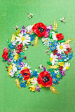 Colorful Ribbon embroidery Royalty Free Stock Image