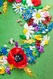 Colorful Ribbon embroidery decoration Stock Photo