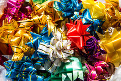 Colorful ribbon flowers Stock Photography