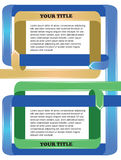 Colorful ribbon folding Vector Layout Design Stock Images