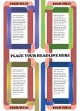 Colorful ribbon folding Vector Layout Design Royalty Free Stock Photos