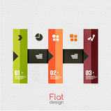 Colorful ribbon infographic - option banners Royalty Free Stock Photography
