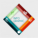 Colorful ribbon infographic - option banners. This is file of EPS10 format Stock Image