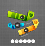 Colorful ribbon infographic steps option banners. Colorful ribbon infographic steps option Stock Images