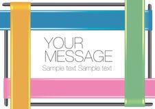 Colorful Ribbon Layout Design Royalty Free Stock Image
