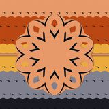 Colorful Ribbon from Repetitive Abstract Geometric Shapes Pattern eps10 Vector. Print for invitation, greeting royalty free illustration