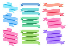 Colorful ribbon set,  Stock Photography