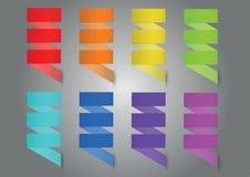 Colorful ribbon set Royalty Free Stock Photography