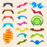 Colorful ribbon for tag royalty free illustration