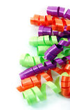 Colorful Ribbons. Bright colorful curly ribbons against a white background Stock Photography