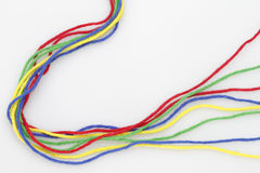 Colorful ribbons Stock Images