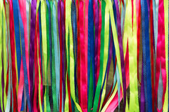 Colorful ribbons abstract background Stock Photos