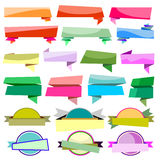 Colorful Ribbons Banners collection  Stock Photography