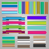 Colorful ribbons and banners vector Royalty Free Stock Photo