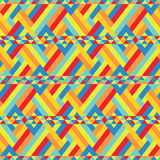 Colorful Ribbons Bound at Seamless Pattern Royalty Free Stock Photos