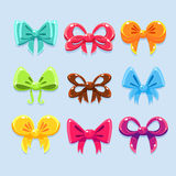 Colorful ribbons and bow ties Royalty Free Stock Image