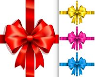 Colorful ribbons and bows Stock Photography