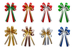 Colorful Ribbons bows isolated on white background. Royalty Free Stock Image