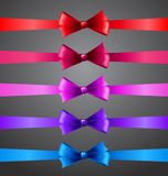 Colorful ribbons with bows Stock Image