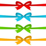 Colorful ribbons with bows. On  white background Stock Photography