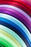 Colorful ribbons - diagonal. Roll of colorful ribbons - diagonal Stock Photography